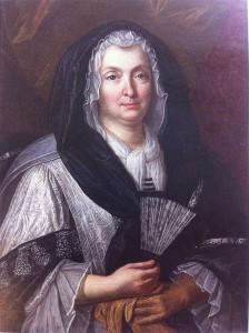 17. Robert Gabriel Genze: La Reina viuda Mariana de Neoburgo a la edad de sesenta años. Bassussarry, Colección particular.
