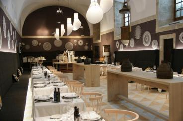Vista del antiguo refectorio convertido en restaurante