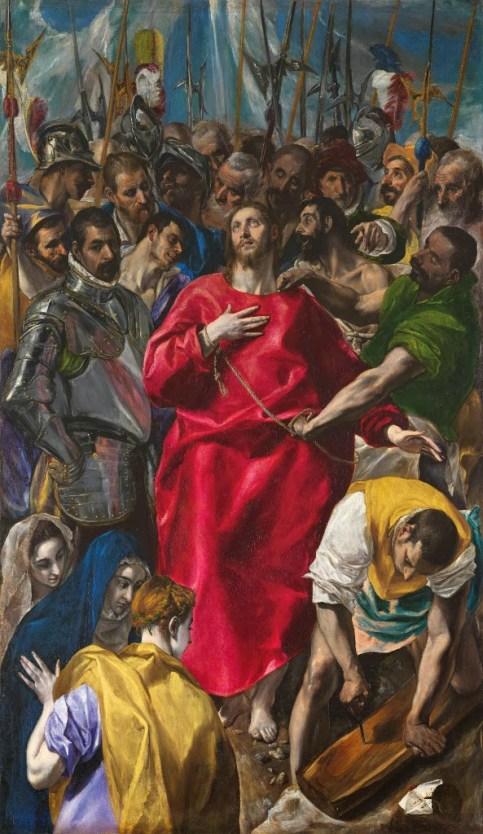 """El Greco: """"El Expolio"""". Sacristía de la Catedral de Toledo."""