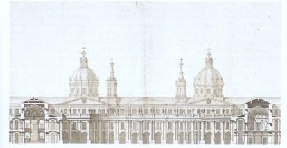 Marcelo Fontón: Sección del proyecto del Palacio Real de Madrid de Filippo Juvarra. Archivo General de Palacio, Madrid.