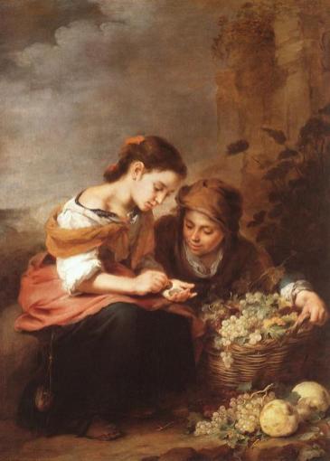 Bartolomé Esteban Murillo: Niños contando monedas. Alte Pinakothek, Munich.