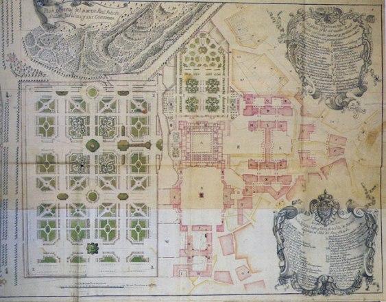 Juan Bautista Sachetti: Proyecto para el entorno del Palacio Real Nuevo. Biblioteca Nazionale Marciana, Venecia.