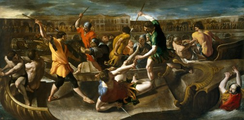 Giovanni Lanfranco: Naumaquia romana. Museo Nacional del Prado, Madrid.