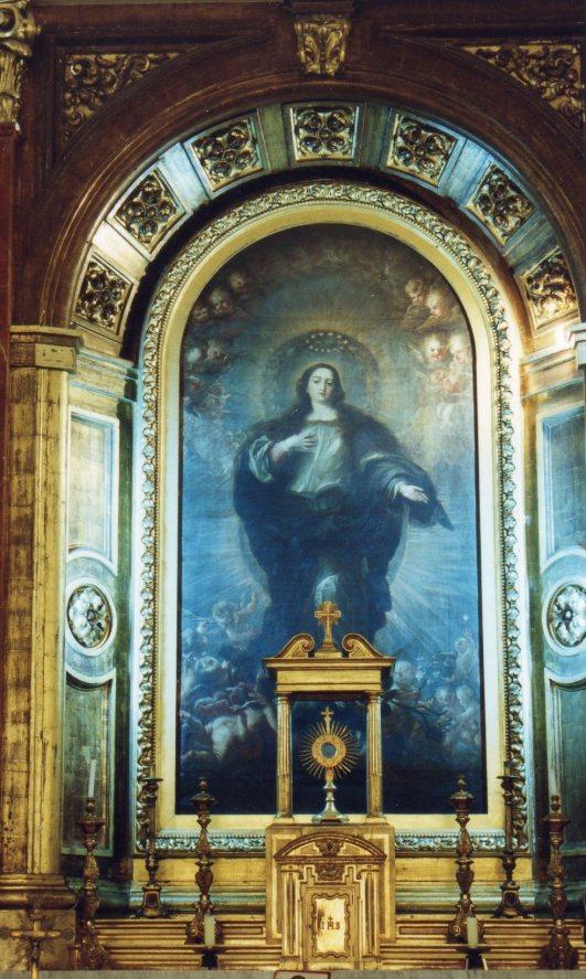 Juan Carreño de Miranda: Inmaculada Concepción. Capilla de la Inmaculada, Instituto San Isidro, Madrid.