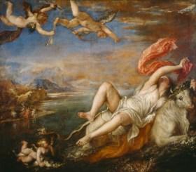 Tiziano: Rapto de Europa.
