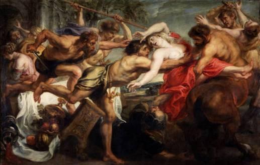 Pedro Pablo Rubens y taller: Rapto de Hipodámia. Madrid, Museo Nacional del Prado.