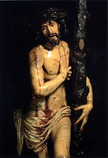Domingo de la Rioja: Detalle del Cristo de las Victorias. Serradilla, Cáceres.