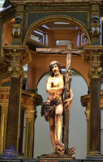 Domingo de Rioja: Detalle del Cristo de los Dolores de la Capilla de la Venerable Orden Tercera. Fotografía de Jesús C.V.