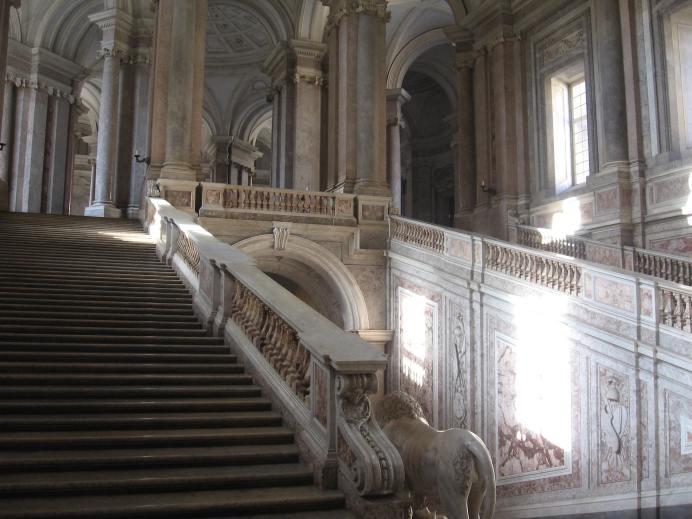 Luigi Vanvitelli. Escalera de la Reggia di Caserta