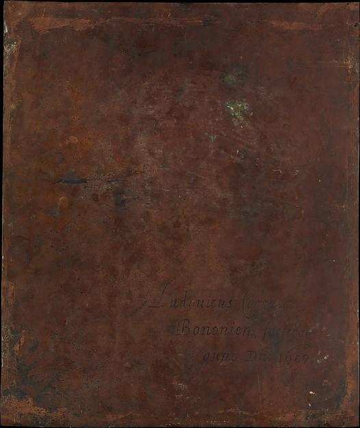 Ludovico Carracci: Trasera del cobre La Virgen con el Niño y Santos. New York, Metropolitan Museum.