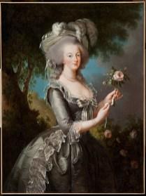 Elisabeth Louise Vigée Le Brun: Retrato de María Antonieta con una rosa, 1783. Colección particular.
