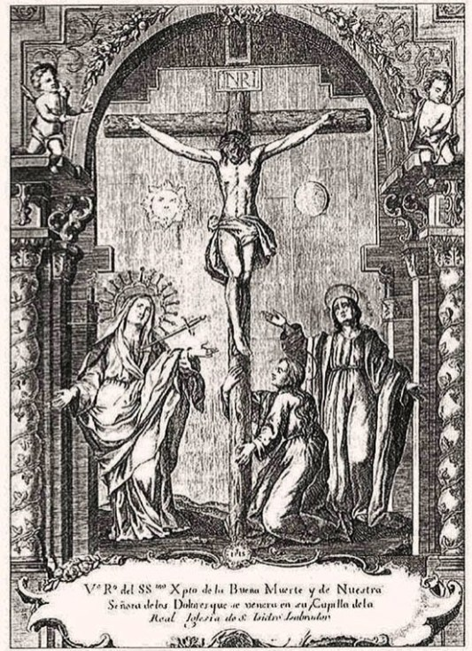 Capilla del Cristo de la Buena Muerte. Estampa de Antonio Palomino.