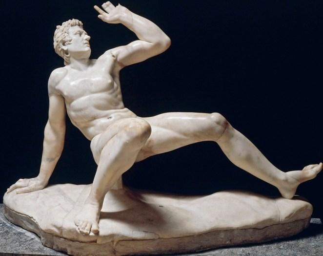 Gálata moribundo. Copia romana de original helenístico. Museo arqueológico. Venecia