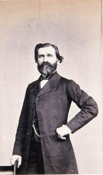 J. Laurent: Retrato de Giuseppe Verdi. Fondo IPHE.