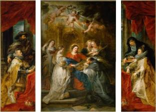 Pedro Pablo Rubens: Tríptico de San Ildefonso. Viena, Kunsthistorisches museum.