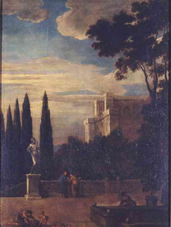 Benito Manuel de Agüero: Paisaje palatino. Madrid, Museo Nacional del Prado.