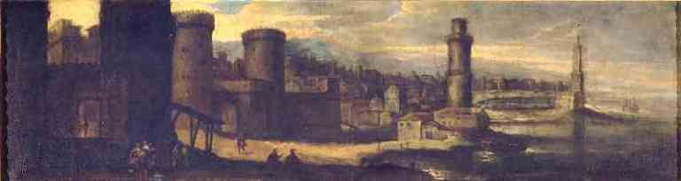 Benito Manuel de Agüero: Puerto de Civitavecchia. Madrid, Museo Nacional del Prado.