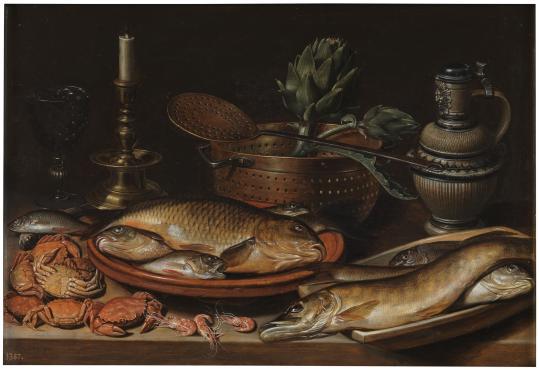 Clara Peeters: Bodegón de pescados, 1611. Museo del Prado.