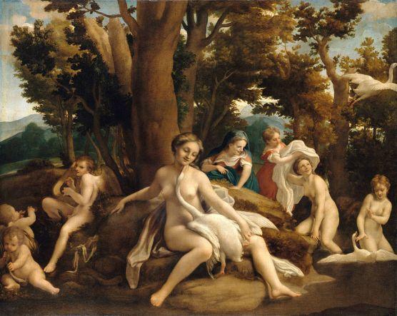 Antonio Allegri da Correggio: Leda y el Cisne. Berlín, Gemäldegalerie.