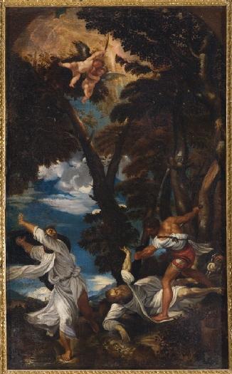 Anónimo: Martirio de San Pedro Mártir (copia de Tiziano). Museo de Huesca. Foto: CERES.