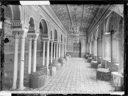 Jean Laurent: Salón árabe del Palacio del marqués de Salamanca (antiguo Palacio del duque de Riansares) en Vista Alegre. Foto: Archivo Ruiz-Vernacci (IPCE).