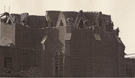 Derribo del edificio del Sagrado Corazón en 1973. Foto: Blog Los Corazonistas.