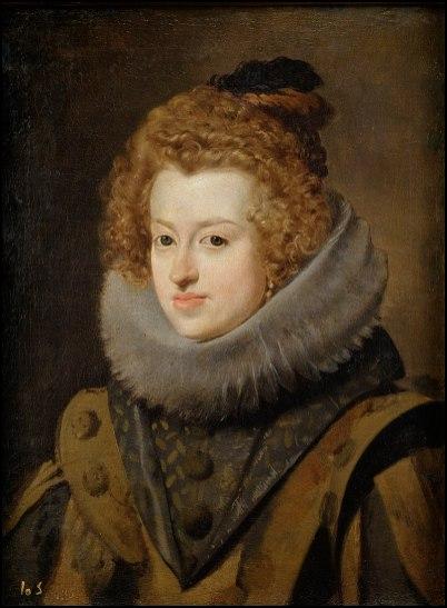 Diego de Silva y Velázquez: María Ana de Austria. Madarid, Museo Nacional del Prado