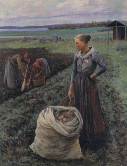 Cosechadoras de patatas (1893) Elin Danielson. Foto: wikipedia.