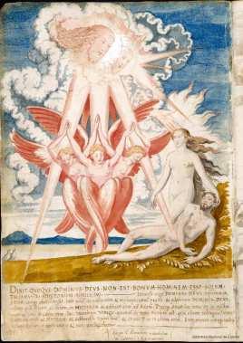 Francisco de Holanda: Creación de Eva. De Aetatibus Mundi Imagines. Madrid. BNE.