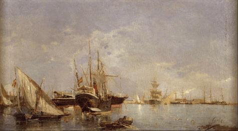 Joaquín Sorolla: Puerto de Valencia, 1882. Foto: Wikiart.