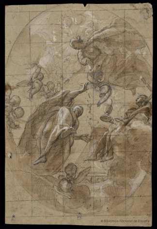José Jiménez Donoso. Alegoría religiosa. Biblioteca Nacional de España.