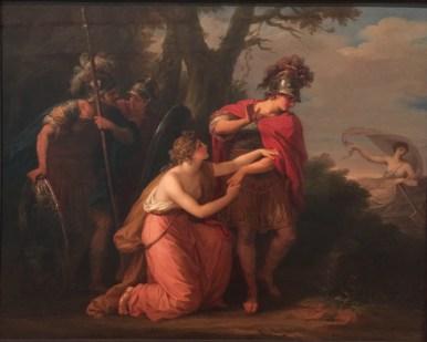 Angelica Kauffman: Armida intentando retener la marcha de Rinaldo, ca. 1776. Londres, English Heritage.