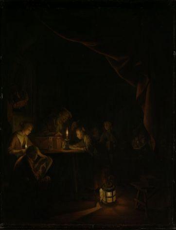 Gerrit Dou: La Escuela Nocturna