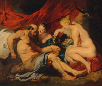 Peter Paul Rubens: Lot y sus hijas. Vendido en Christie's Londres.