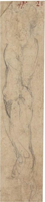 Miguel Ángel Buonarroti: Estudio de brazo derecho de hombre. Madrid, Museo Nacional del Prado