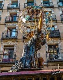 Carro con Atlas. Fiesta barroca. IV Centenario de la construcción de la Plaza Mayor de Madrid. Foto: JCV.