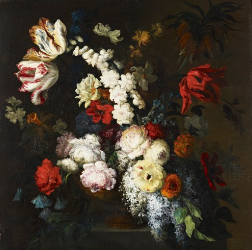 Mary Moser: Jarrón con flores, 1790-1792. Frogmore House, Royal Collection Trust.