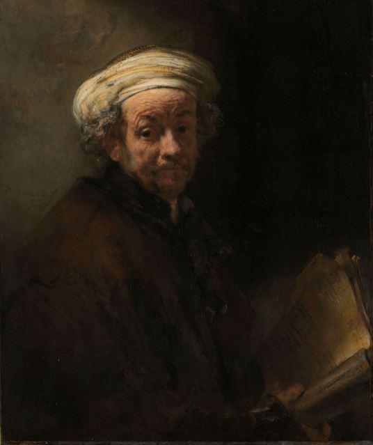Rembrandt: Autorretrato como apóstol Pablo, 1661, Rijksmuseum, Amsterdam.