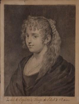 Isabel de Ezpeleta: Retrato de una mujer rubia, 1776, 240x185mm. Madrid, Real Academia de Bellas Artes de San Fernando.