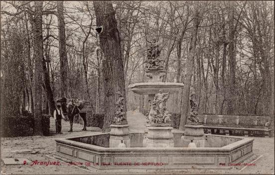 José Lacoste: Fuente de Neptuno, anterior a 1907. Foto: IPCE.