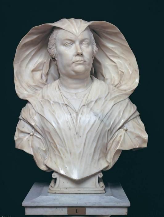 Alessandro Algardi: Olimpia Pamphili, 1647. Marmol blanco. Roma, Galería Doria Pamphili.