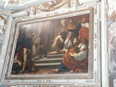 Simon Vouet, San Frascico se vist el hábito, 1623-24. Cap. S. Giacinta Marescotti en San Lorenzo in Lucina de Roma. Foto: @cipripedia.