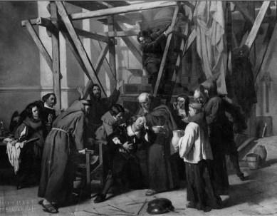 Alejandro Ferrant Fischerman: La caída de Murillo, 1862. Cádiz, Museo de Bellas Artes.