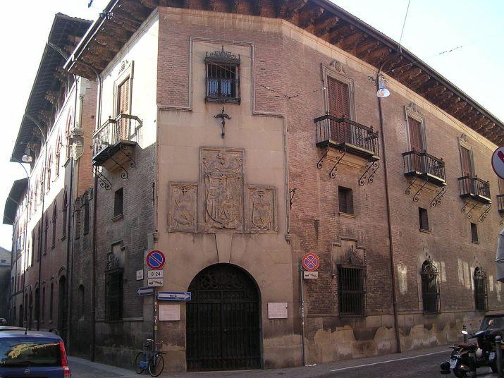 Portada del Real Colegio de España en Bolonia (por Biopresto vía Wikimedia)