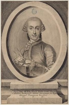 Domingo María de Servidori, Marcelo Fontón, h. 1765, dibujo a pluma, Madrid, Biblioteca Nacional de España.