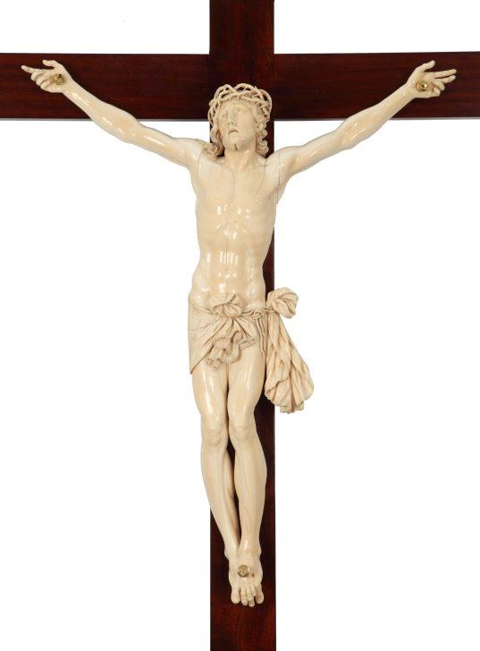 Anónimo italiano, Santísimo Cristo de la Agonía, h. 1700, marfil