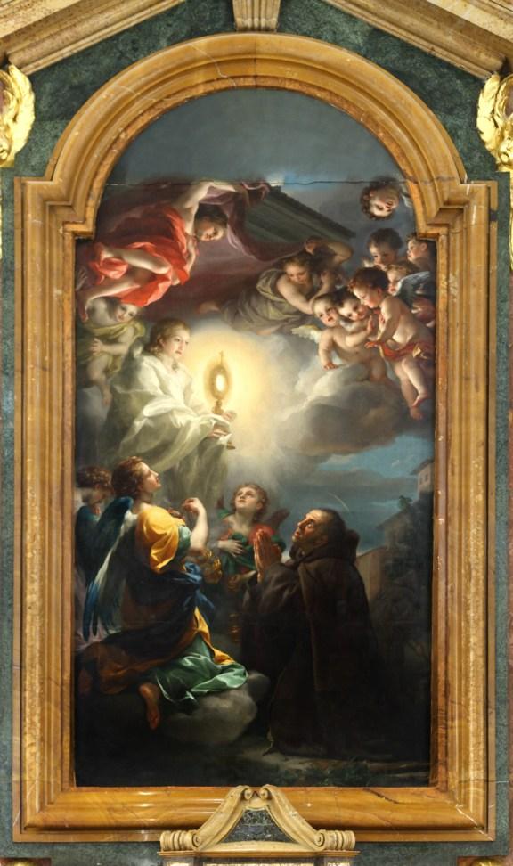 A. R. Mengs, Visión de San Pascual Bailón, 1774-1776, Aranjuez, iglesia de San Pascual.