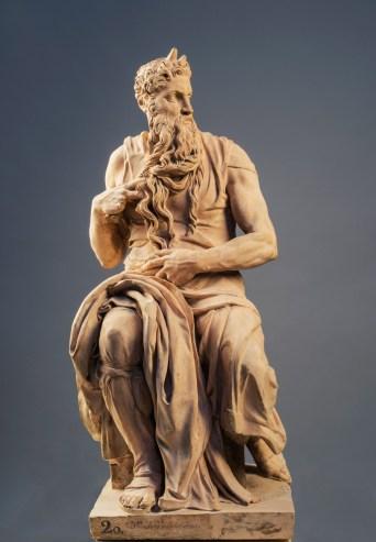 Juan Adán: Copia del Moisés de Miguel Ángel. Madrid, Real Academia de Bellas Artes de San Fernando.