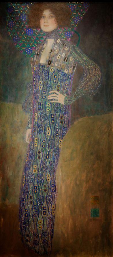 Gustav Klimt, Retrato de Emilie Flöge, 1902. Viena, Museen der Stadt Wien.