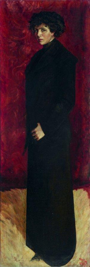 María Roësset, Autorretrato de cuerpo entero, 1912. Madrid, Museo Nacional Centro de Arte Reina Sofía.